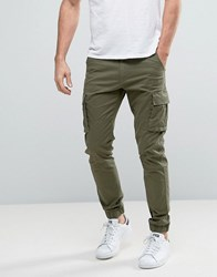 Only And Sons Cuffed Cargo Trousers Olive Night Green