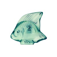 Lalique Fish Figure Mint Green