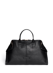 Alexander Mcqueen Leather Manta Carryall Bag Black