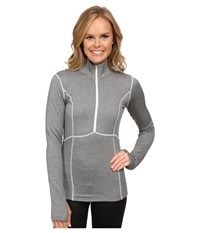 Obermeyer Splendid 150 Dri Core Top Heather Grey Women's Sweatshirt Gray
