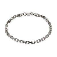 Think Positive By Antonio Marsocci Sterling Silver Cable Chain Bracelet