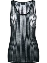 Anthony Vaccarello Knitted Tank Top Black