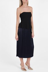 Elizabeth And James Lucy Pleated Skirt Navy
