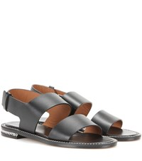 Givenchy Chain Embellished Leather Sandals Black