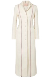 Brock Collection Carolyn Striped Linen Coat Ivory Usd