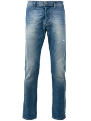 Diesel Faded Effect Jeans Men Cotton Spandex Elastane 34 Blue