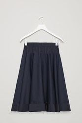 Cos Circle Cut Skirt With Contrast Panel Blue