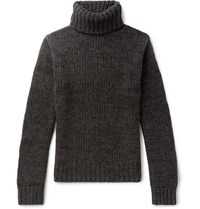 Ralph Lauren Purple Label Cashmere Rollneck Sweater Charcoal