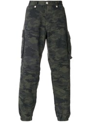 Unravel Project Army Trousers Cotton Green