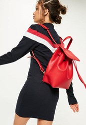 Missguided Red Simple Drawstring Backpack