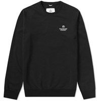 Reigning Champ Embroidered Logo Crew Sweat Black