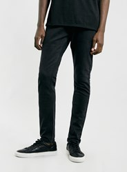 Topman Washed Black Stretch Slim Fit Jeans