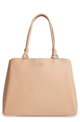 Kate Spade New York Lombard Street Neve Leather Tote Beige Sand