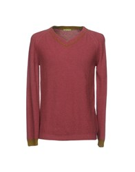 Private Lives Sweaters Brick Red