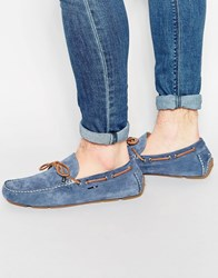 Tommy Hilfiger Suede Monte Loafers Blue