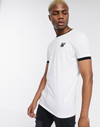 Sik Silk Siksilk Ringer T Shirt In White With Logo