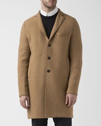Harris Wharf London Camel Unstructured Alpaca Boxy Overcoat
