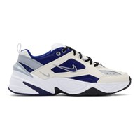 Nike White And Blue M2k Tekno Sneakers