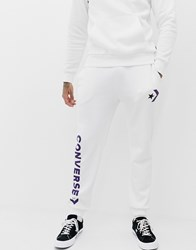 Converse Joggers With Leg Print In White 10007056 A08