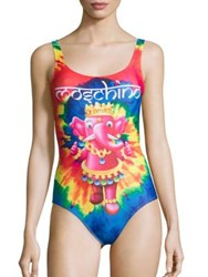 Moschino Fantasy Tie Dye One Piece Swimsuit Multicolor