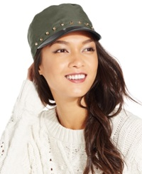 August Hats Military Cap With Studs Green
