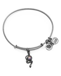 Alex And Ani Snake Expandable Wire Bangle Silver