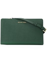 Michael Michael Kors 'Jet Set Travel' Convertible Clutch Green