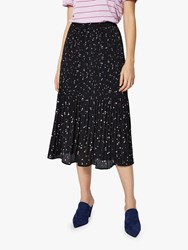 Selected Femme Piper Plisse Skirt Blue