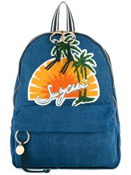 See By Chloe Sunset Print Backpack Women Cotton One Size Blue
