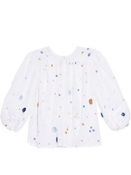 Thierry Colson Pandora Garden Embroidered Shirt White Multi