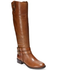 Inc International Concepts Women's Fahnee Wide Calf Riding Boots Women's Shoes Vintage Cognac