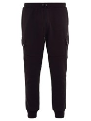 Polo Ralph Lauren Fleece Backed Jersey Cargo Track Pants Black