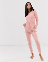 Missguided Loungewear Jumpsuit Pink