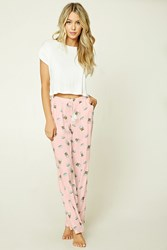 Forever 21 Coffee And Donut Pj Pants Pink White
