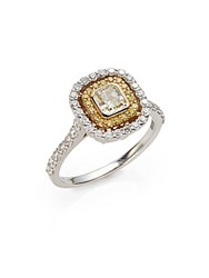 Saks Fifth Avenue 1.25 Tcw Certified Diamond 18K White And Yellow Gold Ring