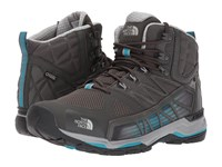 The North Face Ultra Gtx Surround Mid Beluga Grey Algiers Blue Men's Shoes Black
