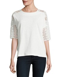 French Connection Dune Lace Tee Natural