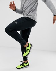 New Balance Running Core Fleece Tapered Joggers In Black