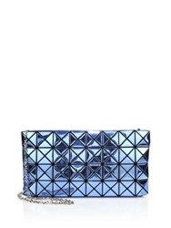 Issey Miyake Platinum Faux Patent Leather Crossbody Bag