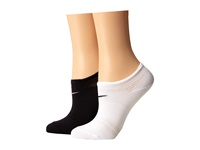 Nike 2 Pair Pack Lightweight Studio No Show White Black Black White Women's No Show Socks Shoes