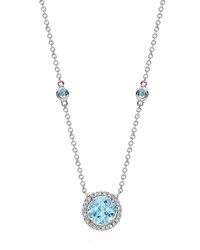 Kiki Mcdonough Grace Blue Topaz And Diamond Necklace