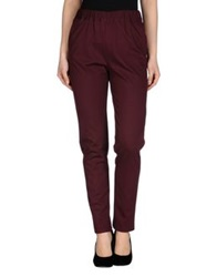 Msgm Casual Pants Maroon