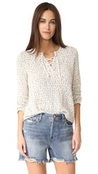 Generation Love Karen Lace Up Sweater Natural