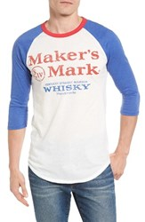 Palmercash Men's Maker's Mark Logo Graphic Baseball T Shirt Bright White