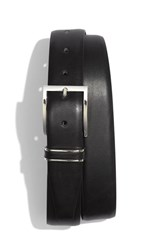 Boss Men's Big And Tall Hugo 'Froppin' Leather Belt Black