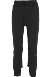 Haider Ackermann Cotton Terry Tapered Track Pants Black