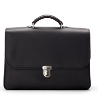 Aspinal Of London City Leather Briefcase Black