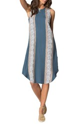 O'neill Women's Tate Print Midi Dress Orion Blue