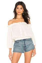 Free People Dancing Till Dawn Top White