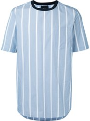 3.1 Phillip Lim Striped T Shirt Men Cotton S Blue